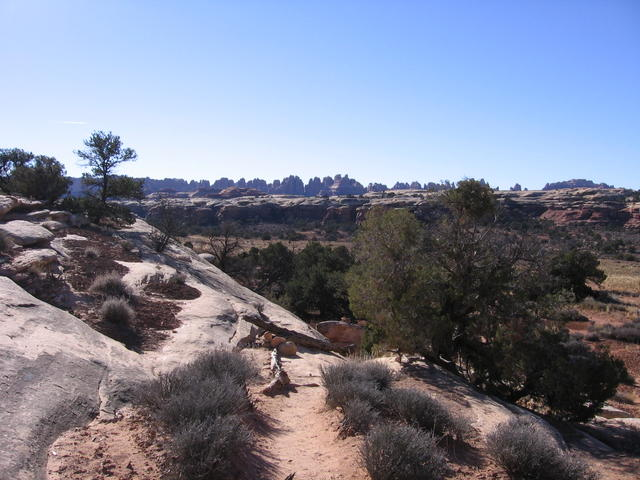 Starting to hike from the Squaw Flat trailhead in Canyonlands.